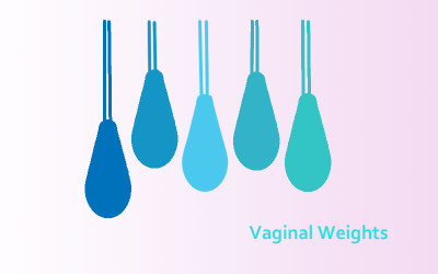 vaginal exercise cones or vaginal weights for pelvic floor strengthening