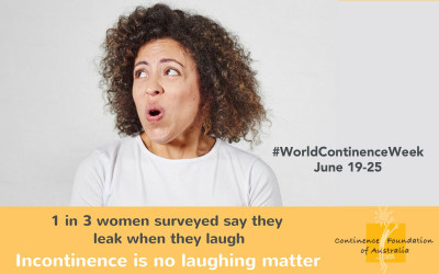World Continence Week June 19-25 2017. Helping generate awareness that incontinence is no laughing matter
